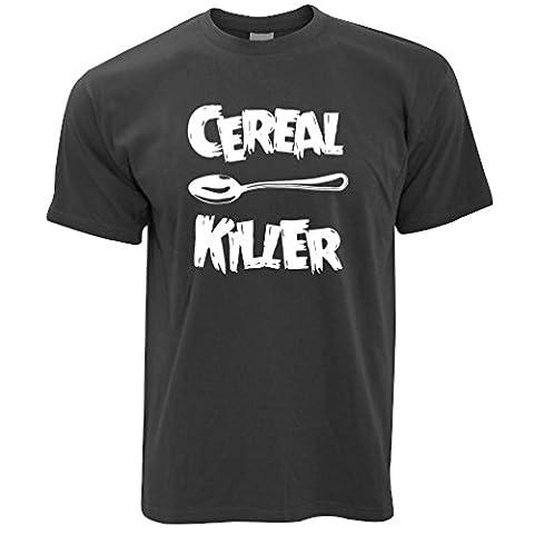 Cereal Killer Löffel Lustige Frühstück Speisen, Humor, Slogan Chef Herren T-Shirt