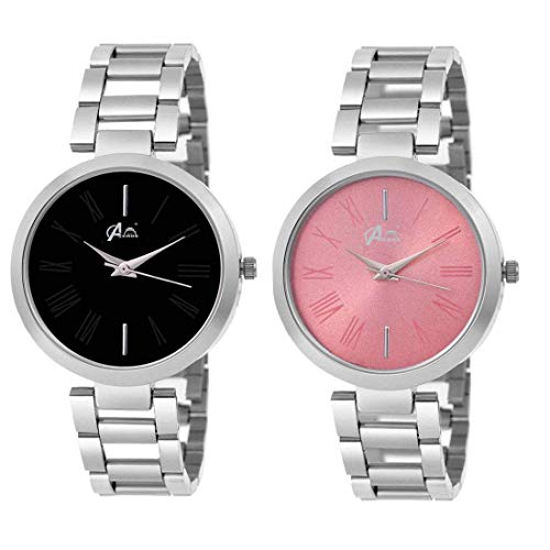 Acnos Analogue Multicolour Dial Women's Watch - Combo Set of 2