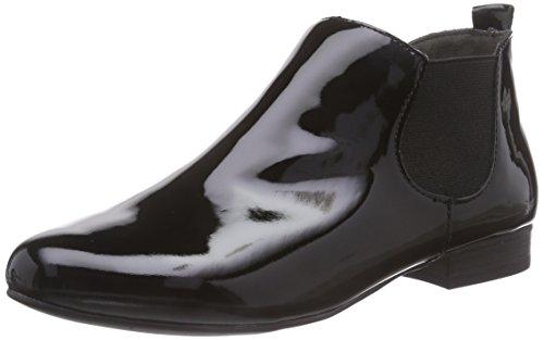 Caprice Damen 25308 Chelsea Boots Schwarz (BLACK PATENT 018)