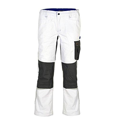 Terrax Workwear Herren Bundhose, Weiß/Royal, Größe:58, Farbe:Weiß/Royal