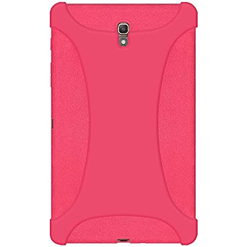 Amzer Exclusive Silicone Skin Jelly Case Cover for Samsung GALAXY Tab S 8.4 SM-T700 - Baby Pink