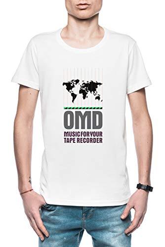 Music for Your Tape Recorder OMD Herren T-Shirt Weiß Größe L - Men's T-Shirt White (Tesla-band-shirt)