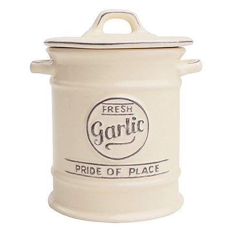 Pride of Place Garlic jar in old