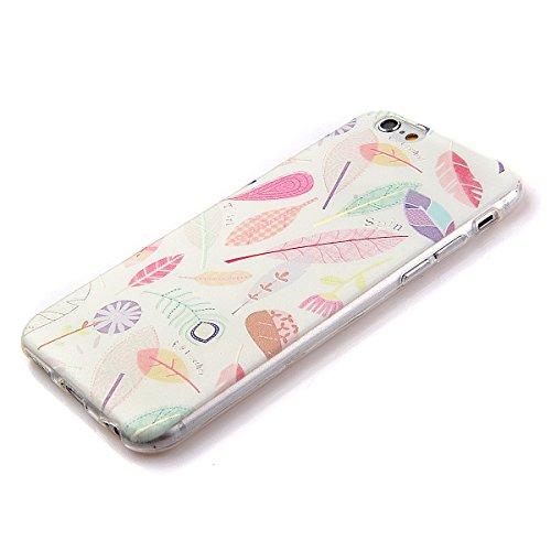iPhone 6s Plus Hülle Silikon,NSSTAR Soft TPU Schutzhülle für iPhone 6s Plus,iPhone 6s Plus Blume Muster Hülle Ultra Slim Perfect Fit Gel Cover Tasche Bunte Kreative Schutz Case Handytasche Handyhüllen 16#,TPU