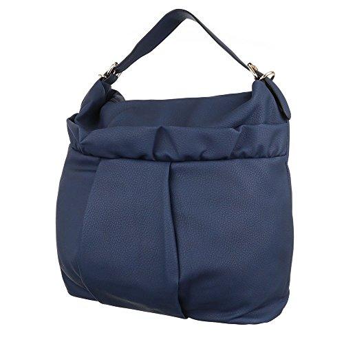 Damen Tasche, Schultertasche, Große Handtasche, Kunstleder, TA-J825 Blau