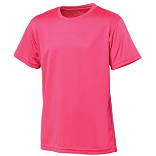 AWD Just Cool Kids Breathable Cool T-Shirt Hot Pink 9/11 Years
