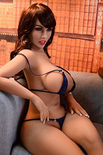 153cm Erotik Liebespuppe Jung Frau Braunem Haar Lebensecht Sexpuppe Große Brust mit Metallskelett mit 3 öffnung oraler Anus vaginal Sex Spielzeug