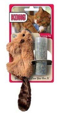 Kong Beaver nachfüllbar Katzenminze Spielzeug (Farben variieren). Stoff, weich, Katzenminze -