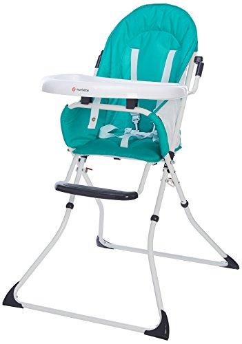 MON BEBE Chaise Haute pour bébé/enfant pliable et confortable avec tablette, Peacock Green
