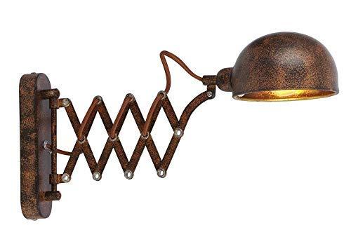 Globo Xirenal - Lámpara de pared con colgante, color negro