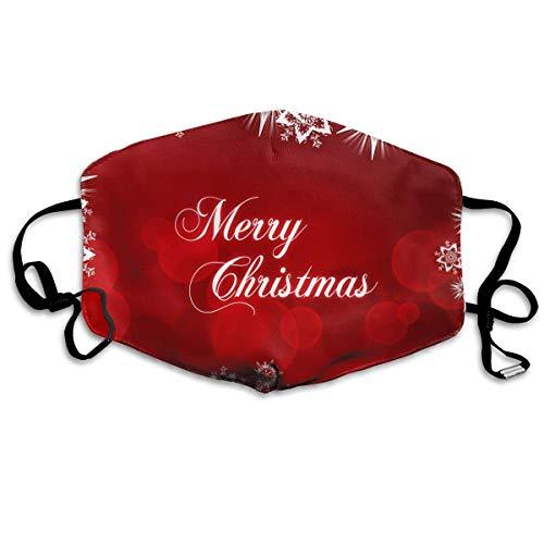 Monicago Einzigartige Unisex-Mundmaske, Gesichtsmaske, Red Merry Christmas Logo Polyester Anti-dust Masks - Fashion Washed Reusable Face Mask for Outdoor Cycling
