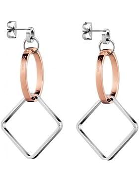Calvin Klein Damen-Ohrhänger Wonder Edelstahl One Size, silber/rosé