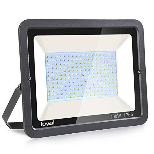 200W LED Strahler Außen loyal LED Scheiwerfer,21000LM Superhell Fluter,IP66 wasserdicht Industriestrahler,Kühles Weiß Flutlicht-Strahler,Außen-Leuchte Flutlicht-Strahler für Außenbereich