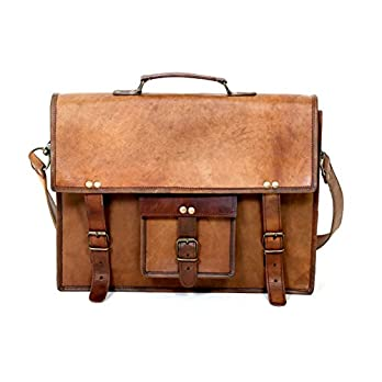 Urbankrafted 15″Vintage Leder Aktentasche Schulter Messenger Laptoptasche für Männer und Frauen
