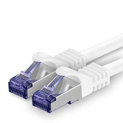 1aTTack.de 362308 Cat.7 Netzwerkkabel Kabel Cat 7-10m - Weiß - 1 Stück - Cat7 Patchkabel (SFTP/PIMF/LSZH) Rohkabel 10 Gb/s mit Rj 45 Stecker Cat.6a - 1 x 10 Meter Weiß 9 Component-kabel