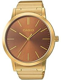 CASIO LTP-E118G-5AEF - Reloj de cuarzo con correa de acero inoxidable para mujer, color bronce
