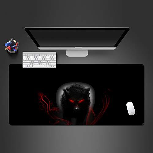 Barbie Arten Von Kostüm - Weißer und schwarzer Wolf Mauspad hochwertige Auflage Computer Büro Tastatur ultradünne Tischmauspad Mauspad 2 700x300x2