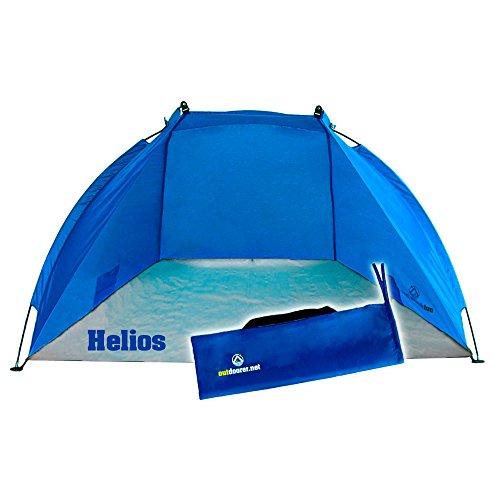 Strandmuschel Helios, blau, UV 60, extra leicht, Minipackmaß