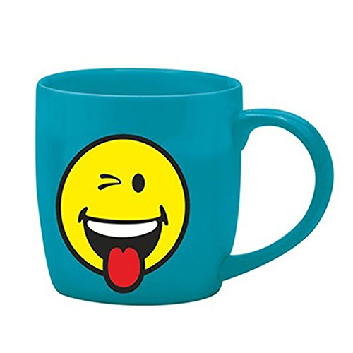 Zak designs 6727-8513 Mug thé Porcelaine Bleu 35 cl