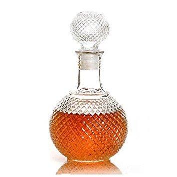 Weinflasche - TOOGOO(R)Kristall Whiskey Wein Schnapsglas Flasche mit Kristall Diamant Flaschendeckel 500 ml 21 x 6 x 12cm