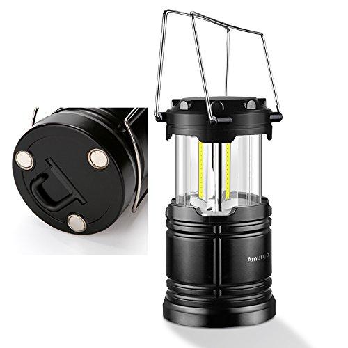 Lanterna da campeggio con fondo magnetico,30 COB LED Tecnologia Lanterne pieghevole a batterie portatile Torcia a LED portatile Kit di sopravvivenza per la notturna Emergenza Uragano (Pacchetto 1)