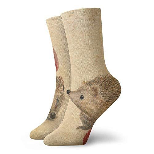 ouyjian Socken Strawberry Hedgehog Women & Men Socken Soccer Sock Sport Tube Stockings Length 11.8Inch