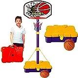Canasta de baloncesto infantil con maletín de transporte