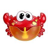 Newin Star Juego Baño de Burbujas Fabricante de Cangrejo automática Ventilador de la Burbuja de la máquina con Pilas del Cangrejo del baño del bebé de Juguete para niños pequeños poesías Infantil