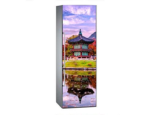 Oedim Pegatinas Vinilo para Frigorífico Vivienda Japon | 200x70cm | Adhesivo Resistente y de Facil Aplicación | Pegatina Adhesiva Decorativa de Diseño Elegante