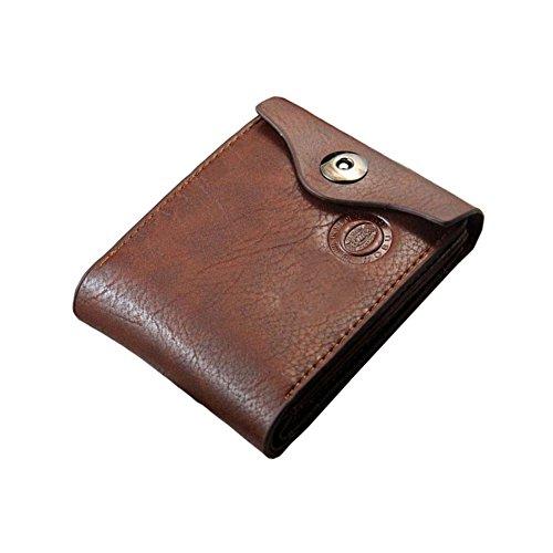 D9Q Männer Brieftasche - Leder Bifold ID Card Inhaber Pocket Tasche Slim Geldbörse - Foto-hinweis-card-inhaber