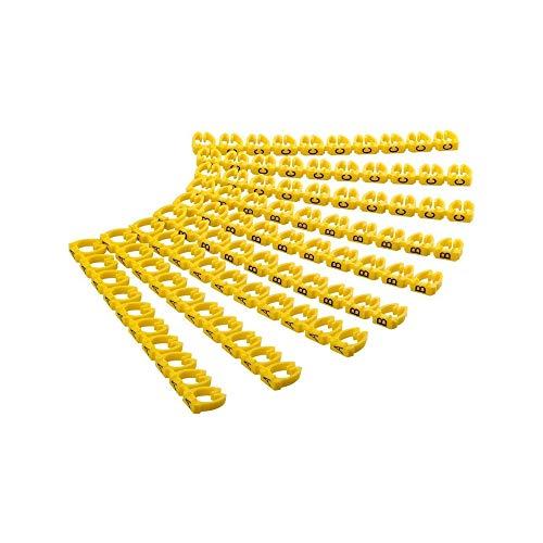 Goobay 72518 Kabelmarker-Clips 'A-C' für Durchmesser, 6 mm gelb