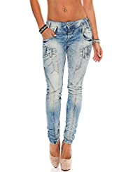 Cipo & Baxx Damen Slim Fit Jeans blue