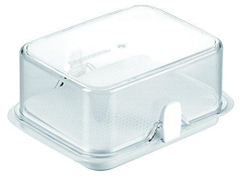 Tescoma Purity 891832 Boîte à Beurre pour réfrigérateur en Plastique Transparent