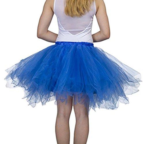 Femme Tutu Jupe Ballet Jupon Mariage Jupe Courte Style Années 50 Couleurs variée pour Femme et Filles Dark Blue
