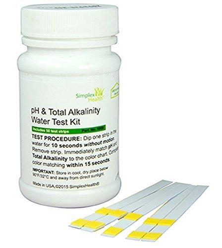 Simplex Health Test PH et l'alcalinité totale – Eau Bandes, 50 bandes