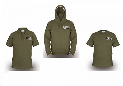 Shimano Clothing Pack Bundle Gr. XXXL Olive Hoody + Polo Shirt + T-Shirt