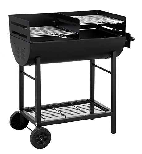 Tepro 1037'Detroit Barbecue a carbonella con trolley