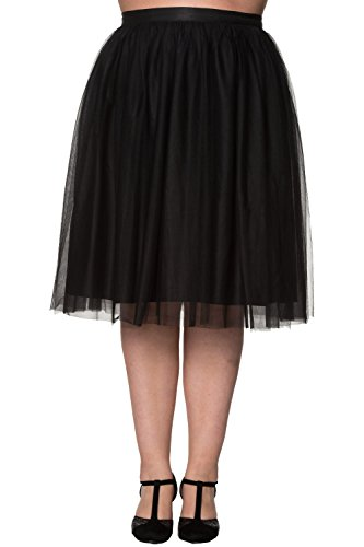 Banned Freefall Vintage Retro Tulle Plus Size Skirt - 6 Colours Available