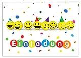 12 Einladungskarten Kindergeburtstag Mädchen Jungen Party-Bälle Jungs Geburtstagseinladungen Einladungen Geburtstags Party Kartenset