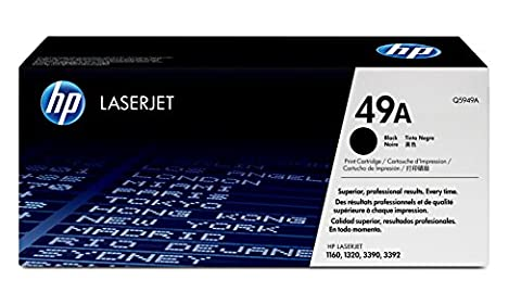 HP Q5949A Standard 49A Original LaserJet Toner Cartridge, Black, Pack of 1