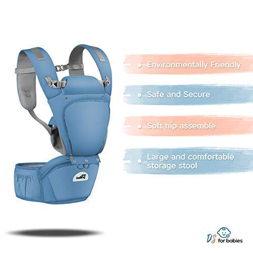 "Baby Carrier Ergonomic with Hip Seat Best Safe Backpack Carriers with Free ""My First Baby"" E-Book 