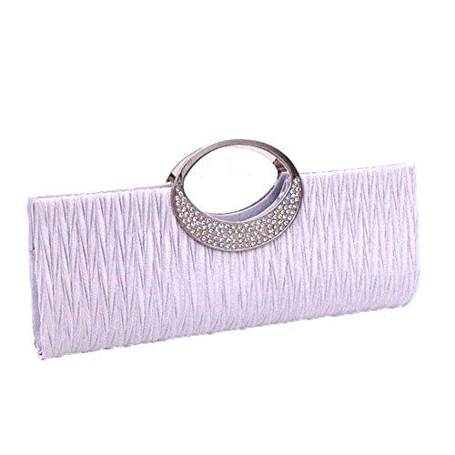HERME , Damen Clutch silber silber (Wallet Satin-long)