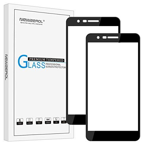 Newzerol Protector de pantalla para LG K11 2018 (5,3 pulgadas, cobertura completa, 9H, cristal templado, antiarañazos, antiburbujas, para LG K10 2018), color negro