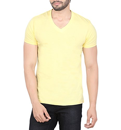 LUCfashion Mens Exclusive Premium Fashionable Cotton Half Sleeve V-neck T-shirt