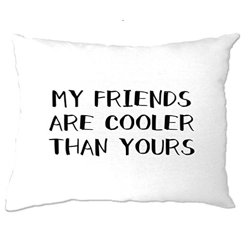 Offensive Pillow Case Bedroom My Friends Are Cooler Than Yours Slogan Friendship Edgy Slogan Cute Relationship Love Cool Funny Gift Present