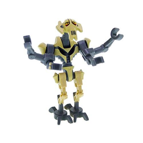 1 x Lego System Figur General Grievous neu-dunkel grau beige Star Wars...