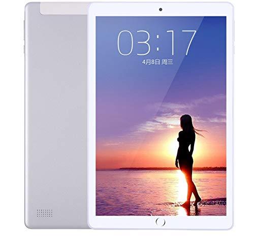 Zehn-Kern-Spiel Huhn Tablet zu Essen Smart ultradünnen großen Bildschirm iPad4G Anruf Dual-Karte Dual-Standby-10,1 Zoll (Grau) (M5 Smart-tv-box)