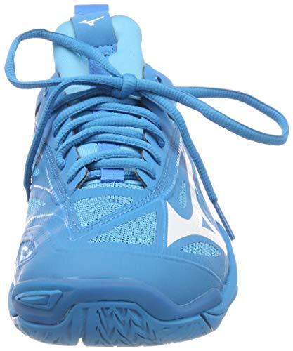 Mizuno Herren Shoe Waver Mirage Sneakers, Blau (Bjewel/Wht/Hocean 001), 46.5 EU - 4