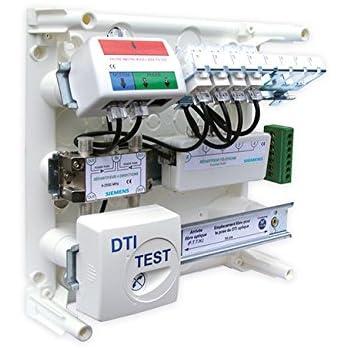 SIEMENS Ingenuity for life - Coffret de Communication de grade 1 avec 8 prises RJ45