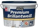 SUPER NOVA 20001013600000 Wandfarbe Premium Brillantweiá, weiá, 2,5 Liter